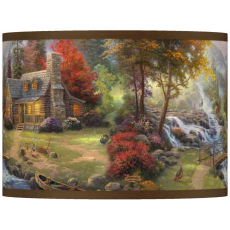 Thomas Kinkade Mountain Paradise Shade 13.5x13.5x10