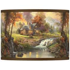 Thomas Kinkade Mountain Retreat Shade 13.5x13.5x10