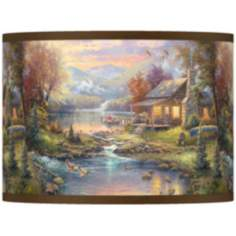Thomas Kinkade Nature's Paradise Shade 13.5x13.5x10