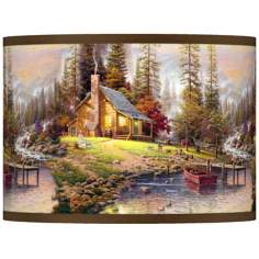 Thomas Kinkade A Peaceful Retreat Shade 13.5x13.5x10