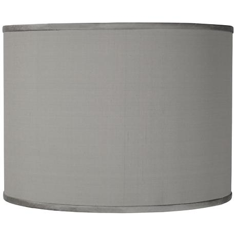 Gray Silk Faux Shade 13.5X13.5X10 (Spider)