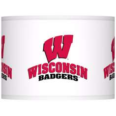 University of Wisconsin Lamp Shade 13.5x13.5x10 (Spider)