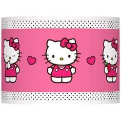 Hello Kitty Pink and Polka Dots Lamp Shade 13.5x13.5x10 (Spider)