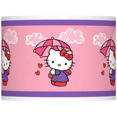 Hello Kitty Rain or Shine Lamp Shade 13.5x13.5x10 (Spider)