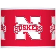 Nebraska Huskers Lamp Shade 13.5x13.5x10 (Spider)