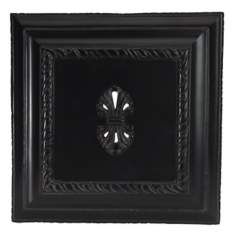 Large Black Carved Door Chime