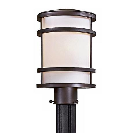 "Bay View Bronze 12 1/4"" High Post Light"