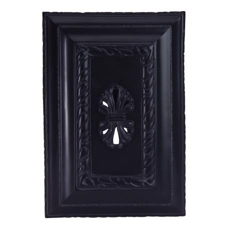 Black Carved Door Chime