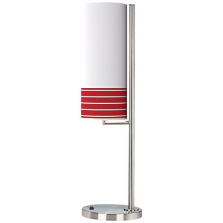 Bold Red Stripe Banner Giclee Table Lamp