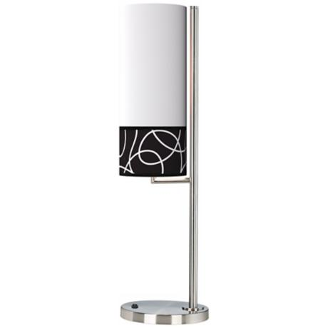 Abstract Banner Giclee Table Lamp