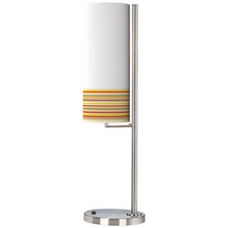 Stacy Garcia Lemongrass Stripe Banner Giclee Table Lamp