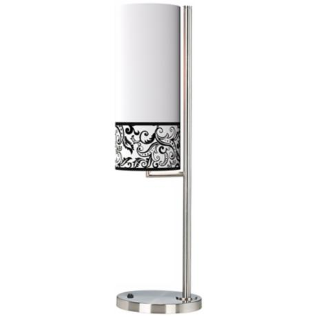 Regency Black Banner Giclee Table Lamp