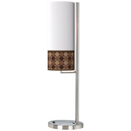 Sienna Grey Circles Banner Giclee Table Lamp