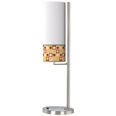 Retro Dotted Squares Banner Giclee Table Lamp