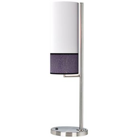 Stacy Garcia Seafan Rich Plum Banner Giclee Table Lamp