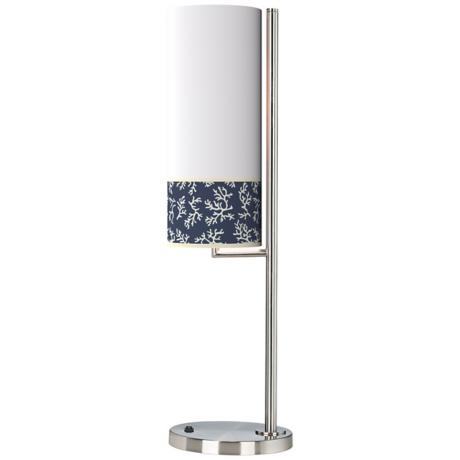 Prussian Coral Banner Giclee Table Lamp