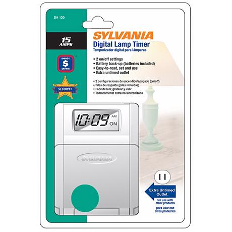 Sylvania 15 Amp Digital Lamp Timer
