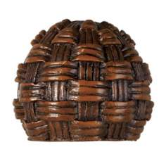 Decorative Mahogany Rattan Lamp Shade Finial