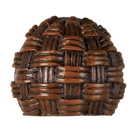 Decorative Mahogany Rattan Lamp Shade Finial - #38457 | LampsPlus.