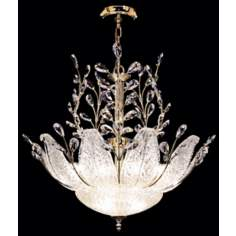 James R. Moder Murano and Crystal Pendant Chandelier