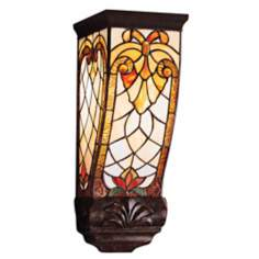 "Elmbridge Tiffany Style 15"" High Wall Sconce"
