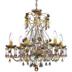 "Schonbek 19"" Wide Rose Crystal Chandelier"