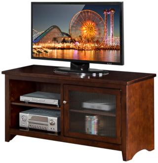 Cambridge Cappuccino Wood 1-Door TV Console (38N35) 38N35