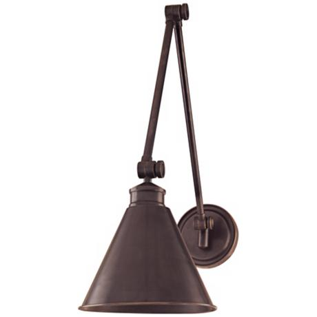 Hudson Valley Exeter Old Bronze Swing Arm Wall Light