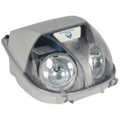 Grey Two-Light Bug Eye Emergency Light