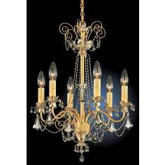 Schonbek Black Diamond Crystal Six Light Chandelier