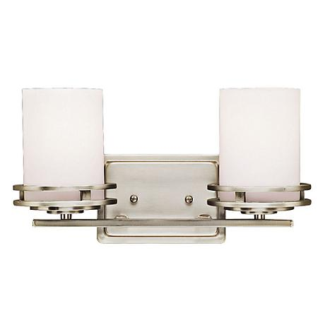 "Hendrik Nickel 14 1/2"" Wide Bathroom Light Fixture"
