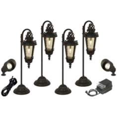 Casa Marseille™ 8-Piece Bronze Landscape Lighting Set