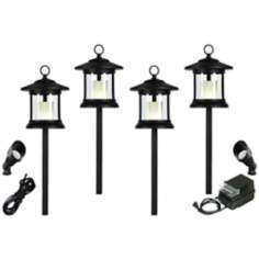 Craftsman Black 8-Piece Outdoor LED Landscape Lighting Set