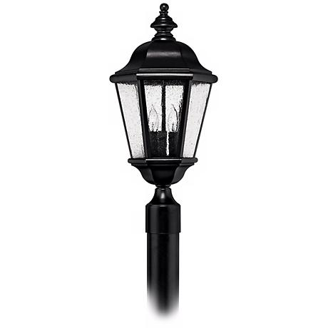 "Hinkley Edgewater Black 20 1/2"" High Outdoor Post Light"