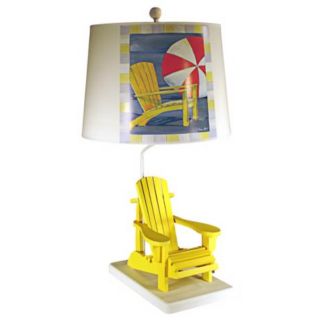 Yellow Deck Chair Paul Brent Table Lamp
