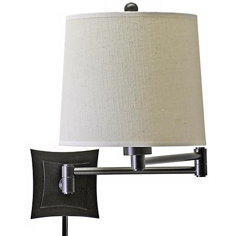 Lovana Bronze Finish Plug-In Swing Arm Wall Lamp