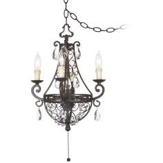 Kathy Ireland Plug-In Swag Mini Chandelier