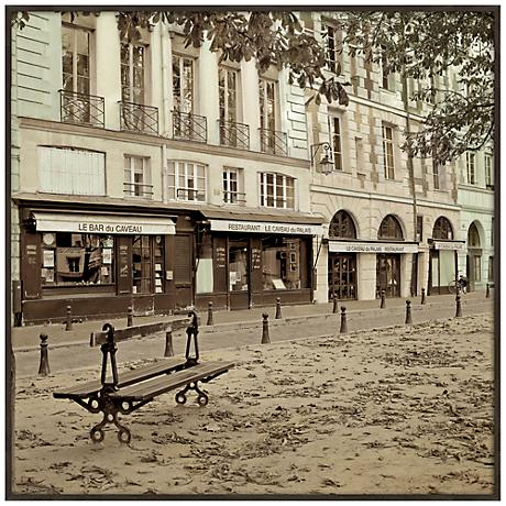 "Paris Plaza II 20 1/2"" Square Framed Giclee Wall Art"