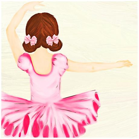 "Ballerina 23"" Square Girls' Room Giclee Wall Art"