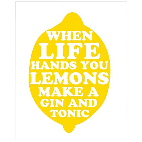"Life Hands You Lemons 20"" Giclee Contemporary Wall Art"