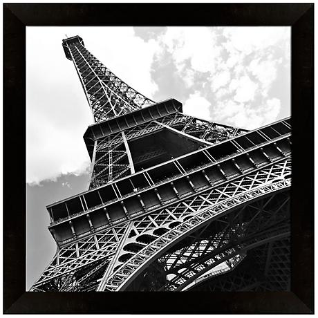 "Eiffel Tower II 14"" Square Architectural Wall Art"