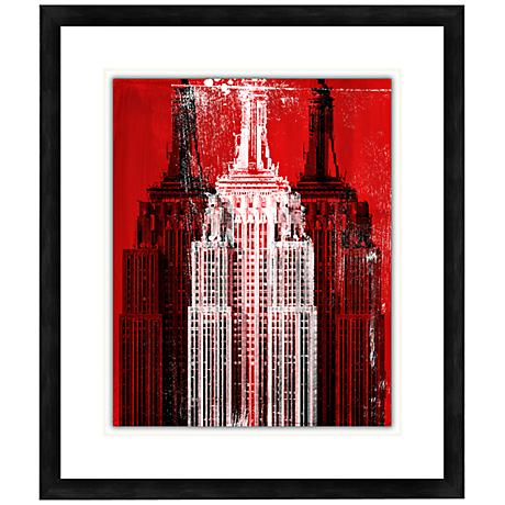 "Skyscraper II 28 1/2"" High Contemporary Giclee Wall Art"