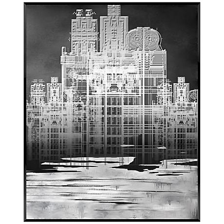 "White Cityscape 20"" High Contemporary Giclee Wall Art"