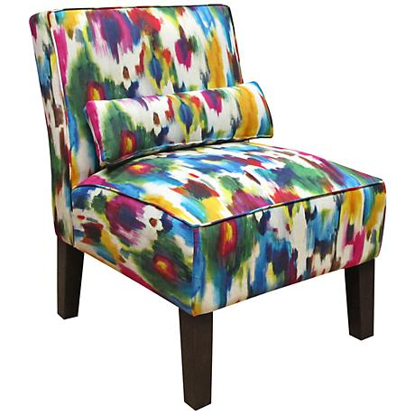 Aurora Multi Upholstered Armless Accent Chair