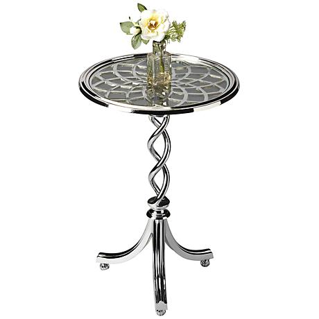 Modern Expressions Glass Top Accent Table
