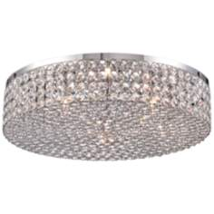 "Vienna Full Spectrum Velie 16"" Wide Crystal Ceiling Light"