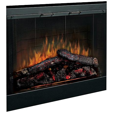 "Log Set 33"" Wide LED Ember Built-In Fireplace"