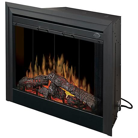 """39"" Matte Black Built-In Electric Firebox"