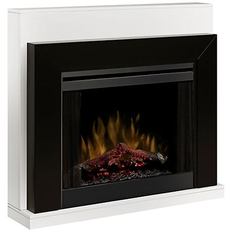 Ebony Black Mantel Electric Fireplace