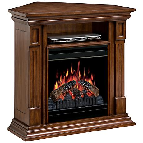 "Deerhurst 37"" Wide Electric Fluted Corner Fireplace"